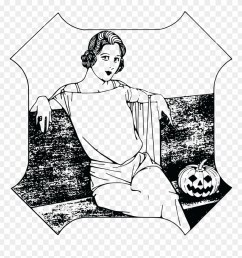 free clipart of a halloween lady happy halloween girl t shirt costume gift trick [ 880 x 927 Pixel ]