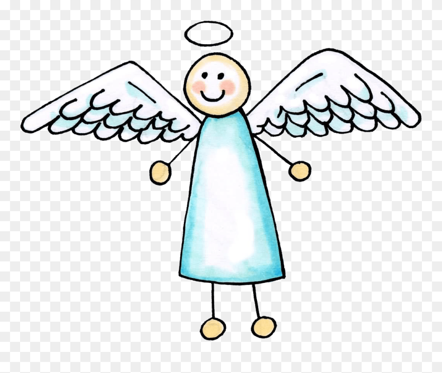 Simple Angel Drawing Easy Clipart 5447609 Pinclipart