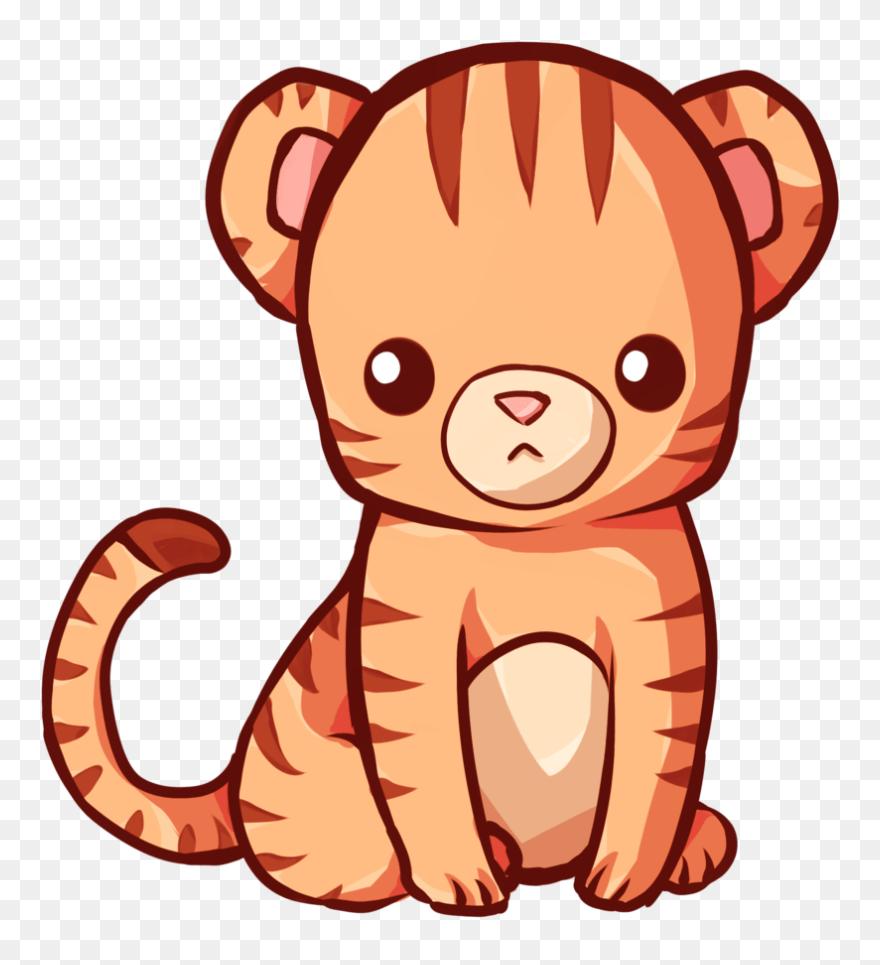 Kawaii Cute Tiger Drawing Clipart 5539624 Pinclipart