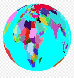 clipart world globe 6 colorful world globe png download [ 880 x 920 Pixel ]