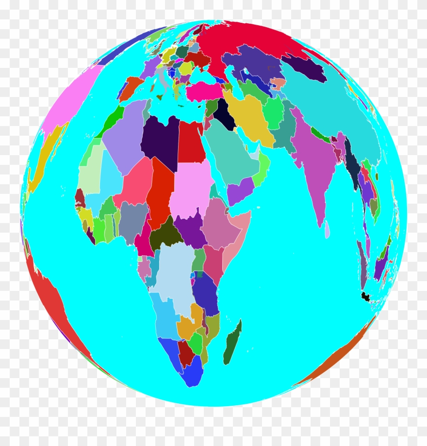 hight resolution of clipart world globe 6 colorful world globe png download
