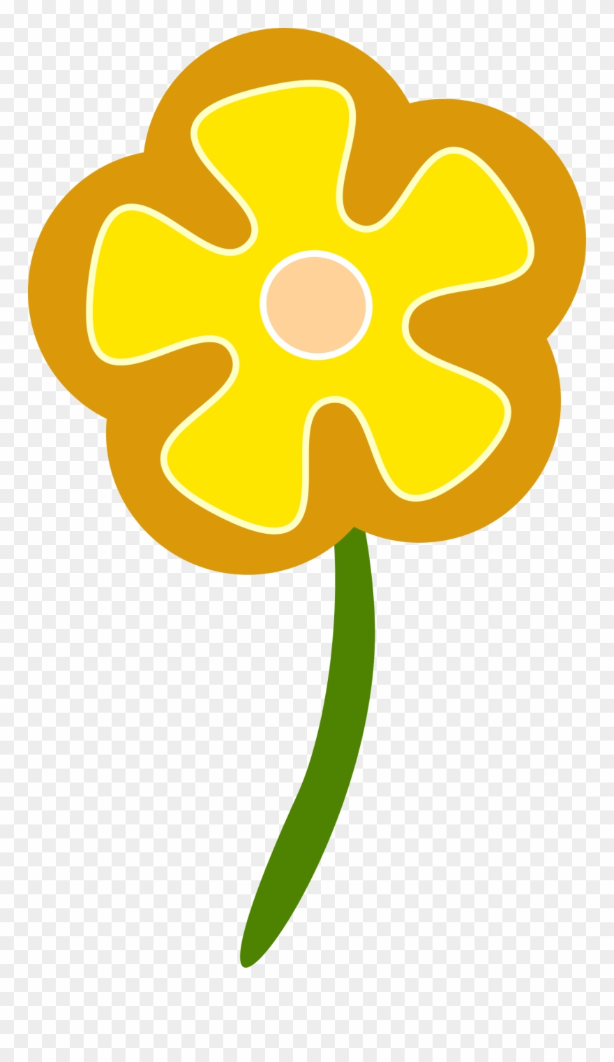 hight resolution of daisy flower clip art simple flower vector png download