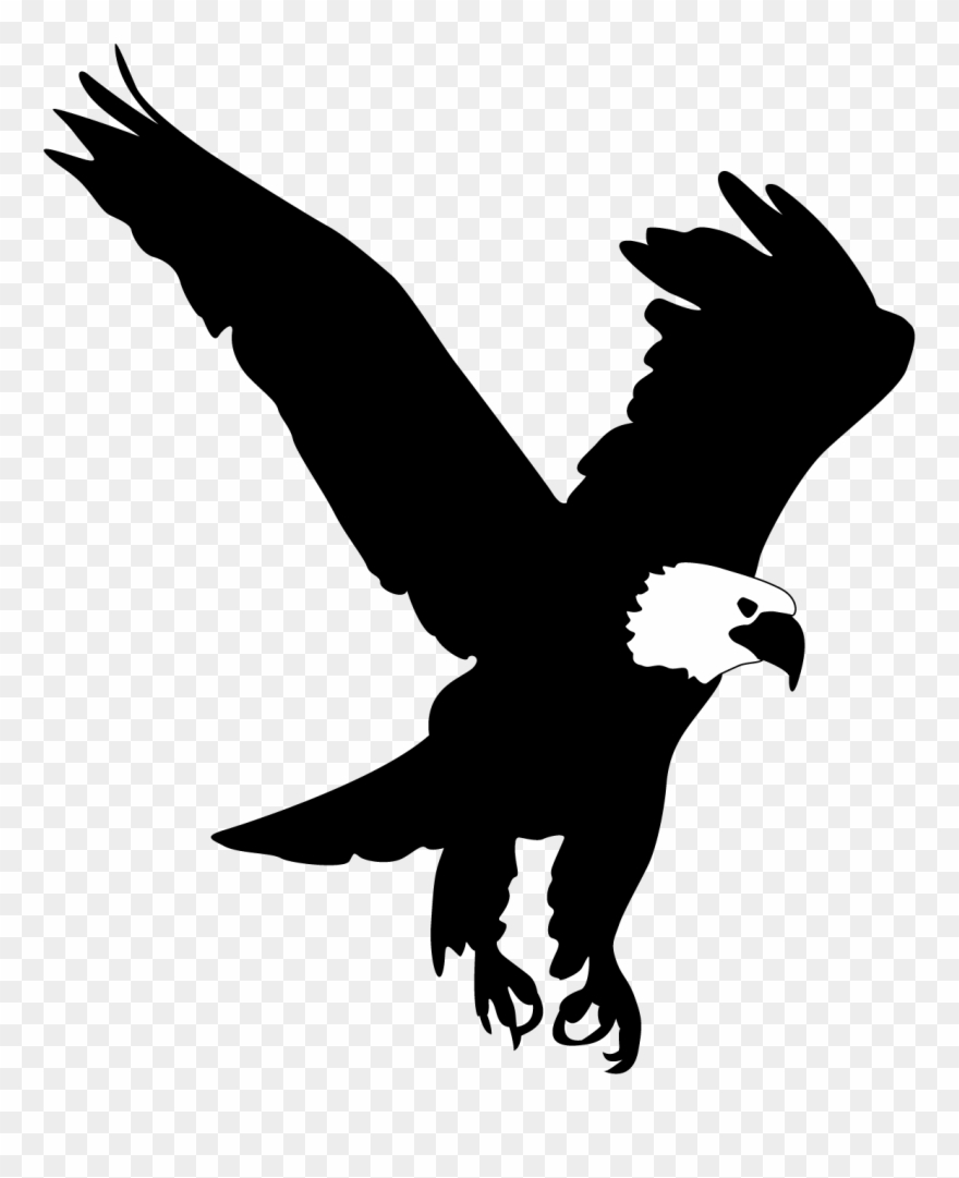 hight resolution of bald eagle clip art eagle silhouette png download