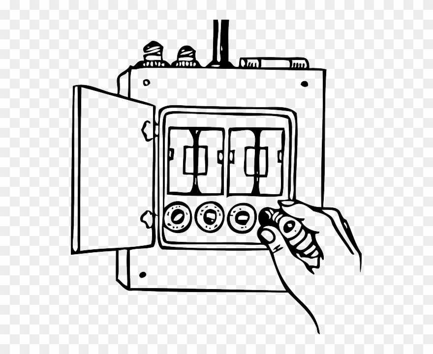 Illustration Of Residential Electrical Fuse Box