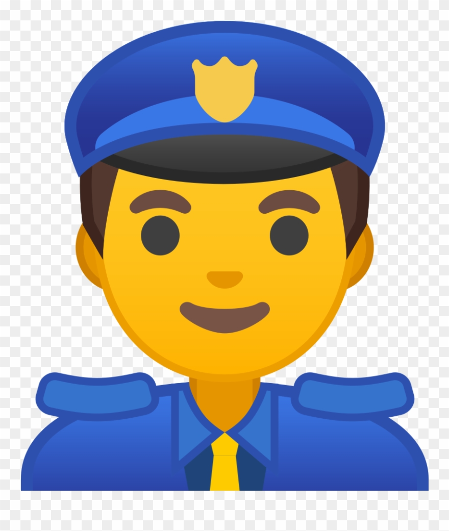 hight resolution of clipart kid police officer emoji policia png download