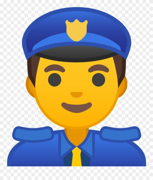 small resolution of clipart kid police officer emoji policia png download
