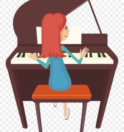 piano clipart two cartoon girl playing piano png download [ 880 x 1378 Pixel ]
