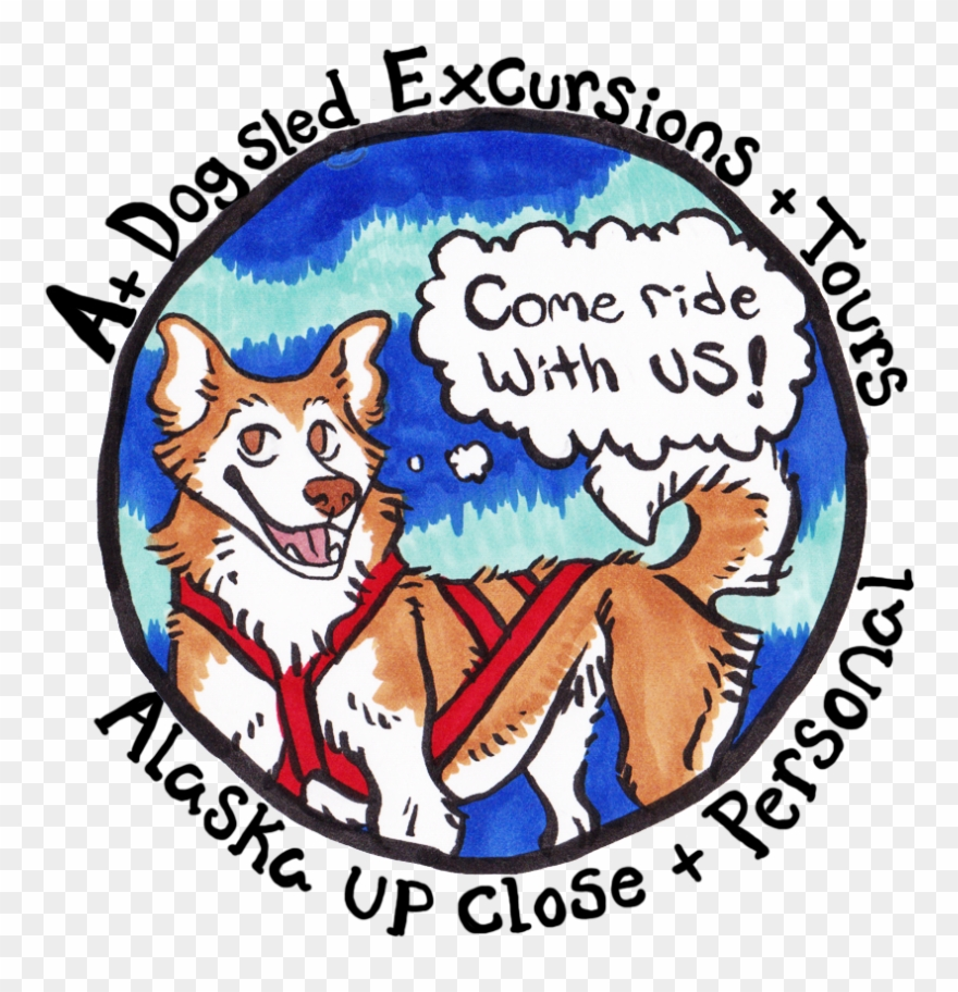 hight resolution of logo a dog sled excursions tours clipart