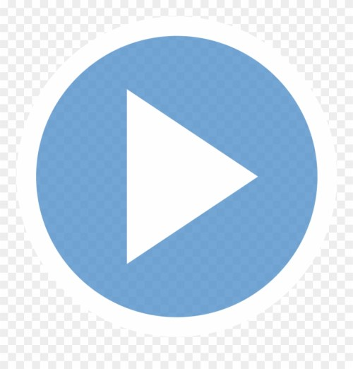 small resolution of play button clipart play button blue png transparent png