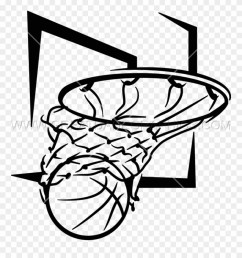 basketball net black and white png clipart [ 880 x 941 Pixel ]
