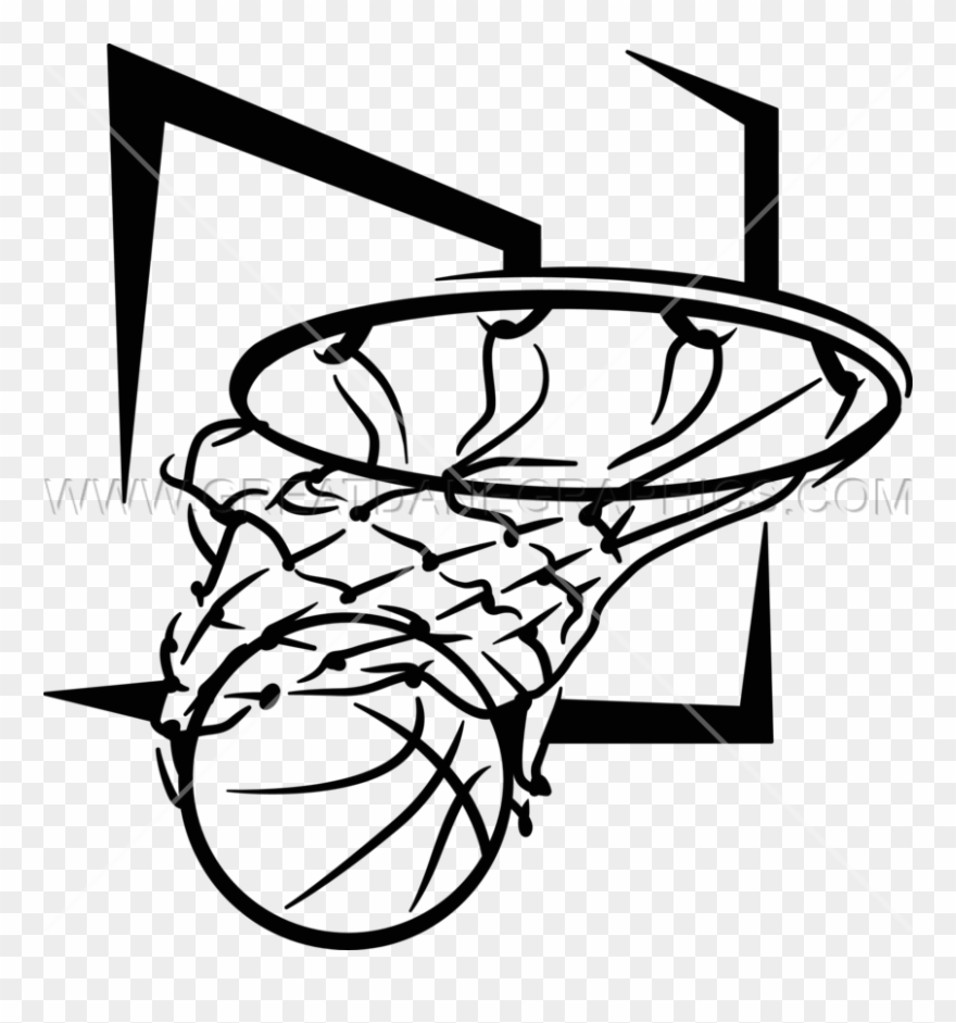 hight resolution of basketball net black and white png clipart