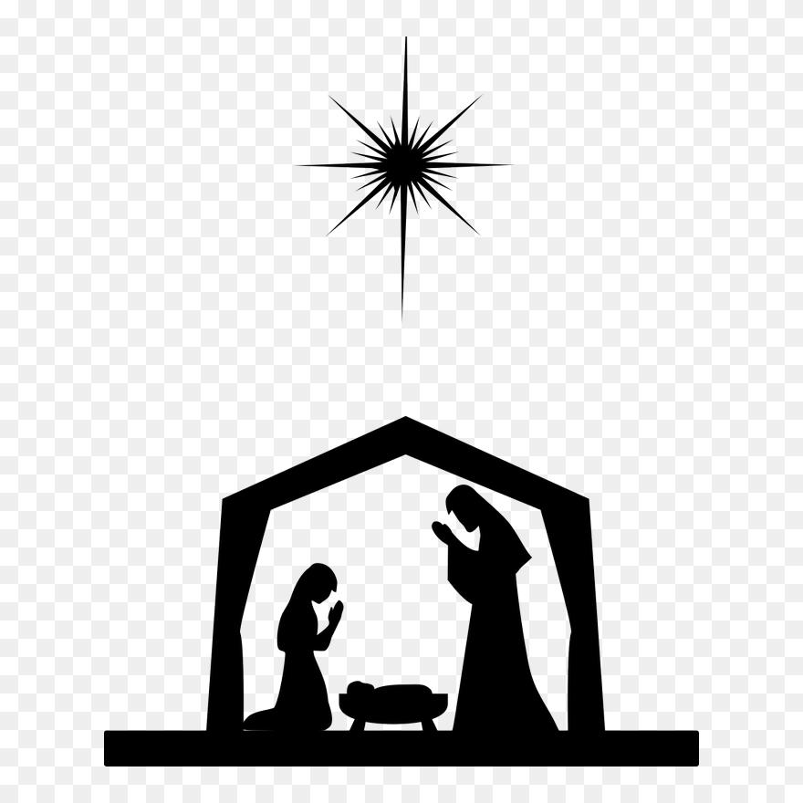 medium resolution of nativity scene nativity of jesus silhouette christ o come immanuel string trio clipart