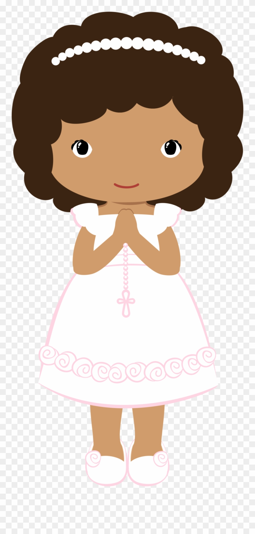 medium resolution of clipart girl first communion clipart communion girl png wave hair transparent png