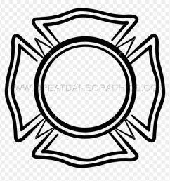 maltese cross volunteer fire department emblem clipart [ 880 x 904 Pixel ]