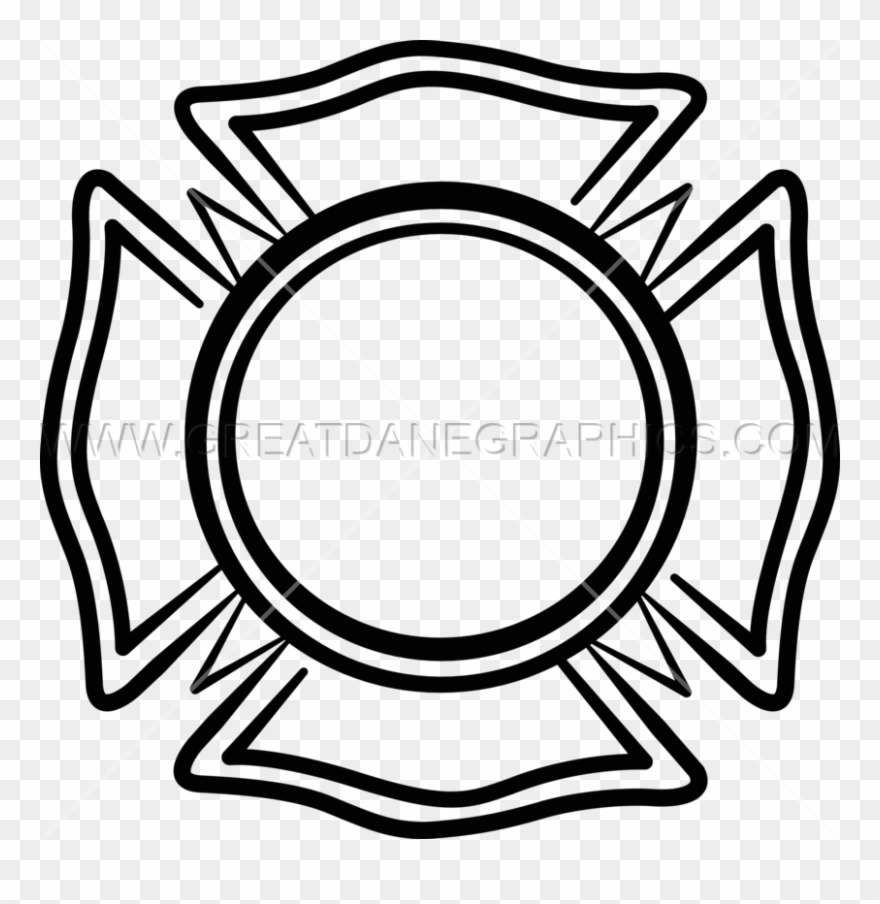 medium resolution of maltese cross volunteer fire department emblem clipart