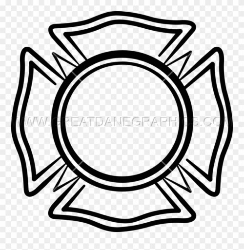 small resolution of maltese cross volunteer fire department emblem clipart
