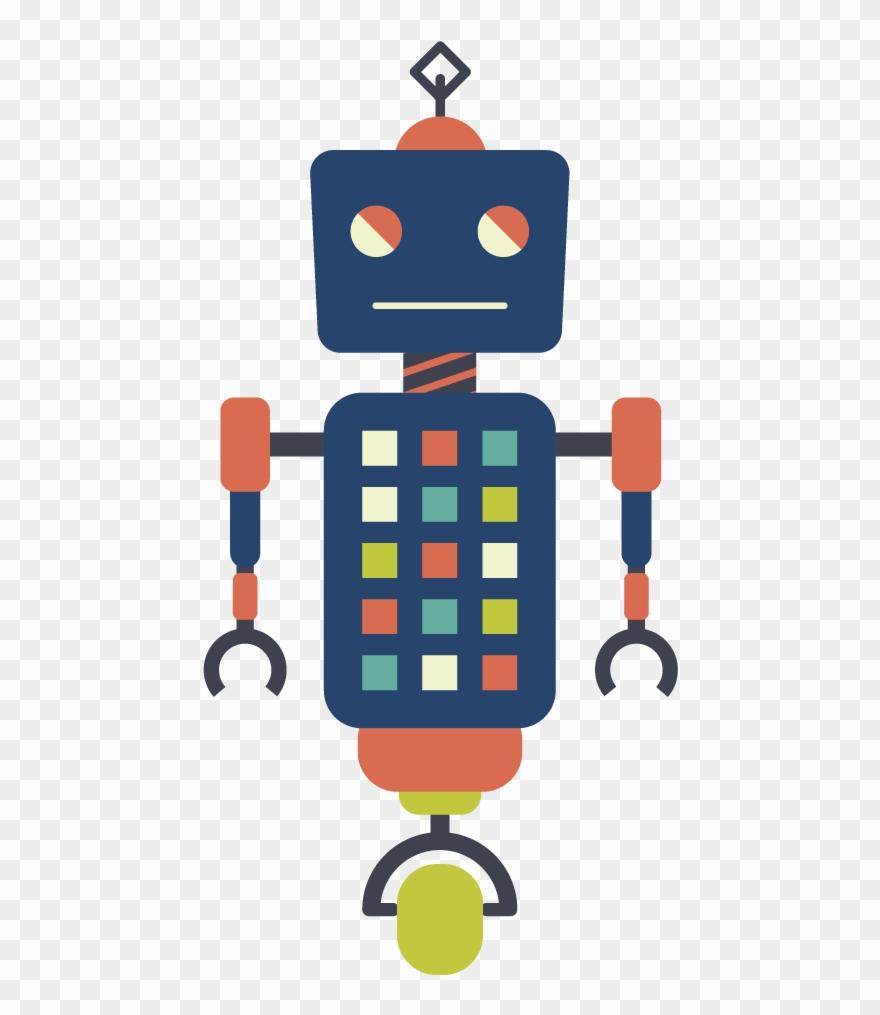 medium resolution of vector robots hipster robot clipart