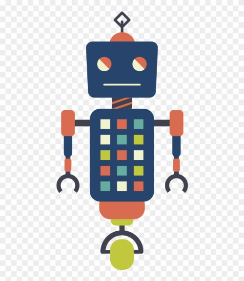 small resolution of vector robots hipster robot clipart