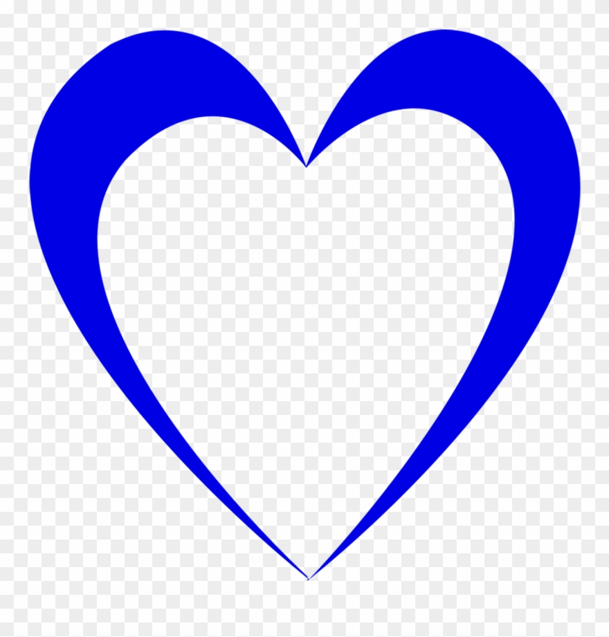 medium resolution of wedding blue heart outline design love
