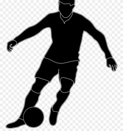 soccer football players clipart black and white png download [ 880 x 1097 Pixel ]