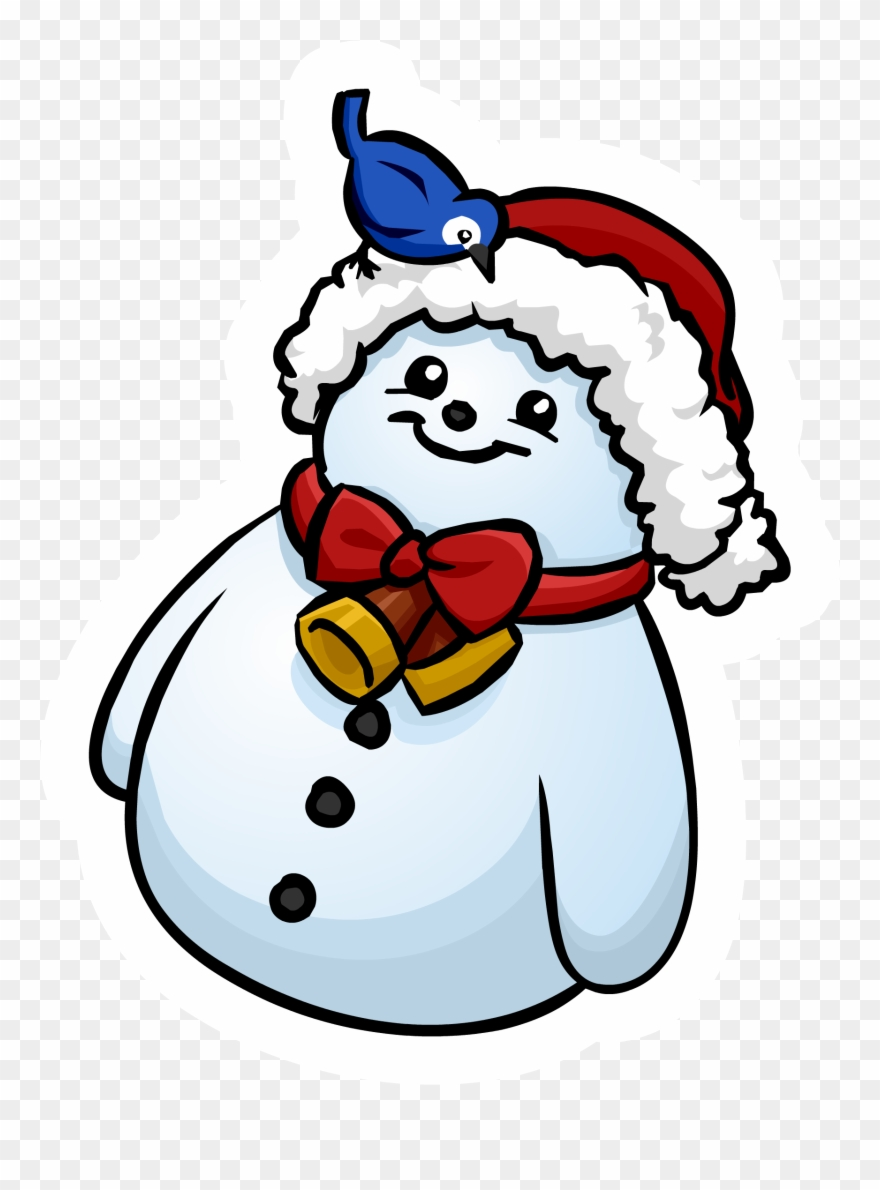 hight resolution of clipart snowman penguin club penguin png download