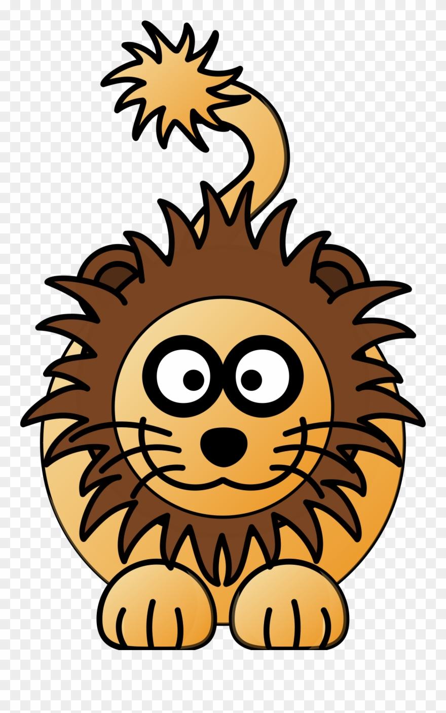 Lion Cartoon Drawing Cartoon Lion Clker Clipart 83480 Pinclipart