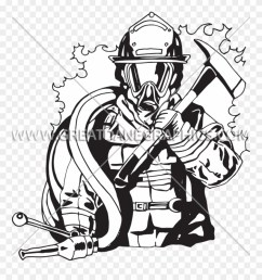 png transparent library firefighter black and white fire fighter line art clipart [ 880 x 941 Pixel ]