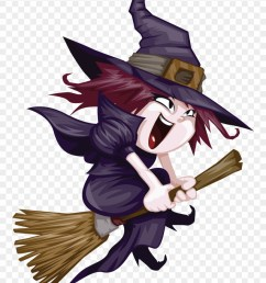 witchcraft clipart nice cute witch riding broom png download [ 880 x 1215 Pixel ]
