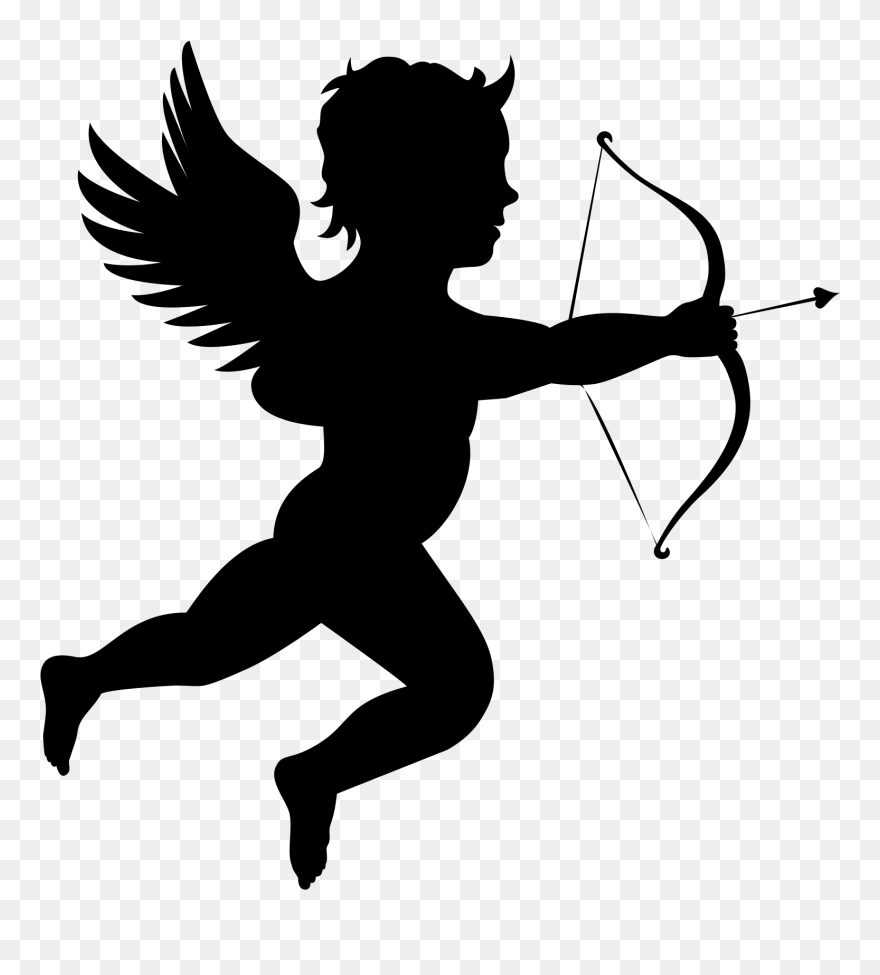 hight resolution of onlinelabels clip art cupid silhouette png transparent png