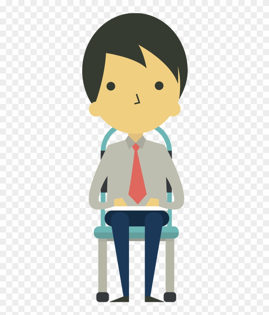 medium resolution of cartoon businessman sitting on chair cartoon sitting on chair clipart