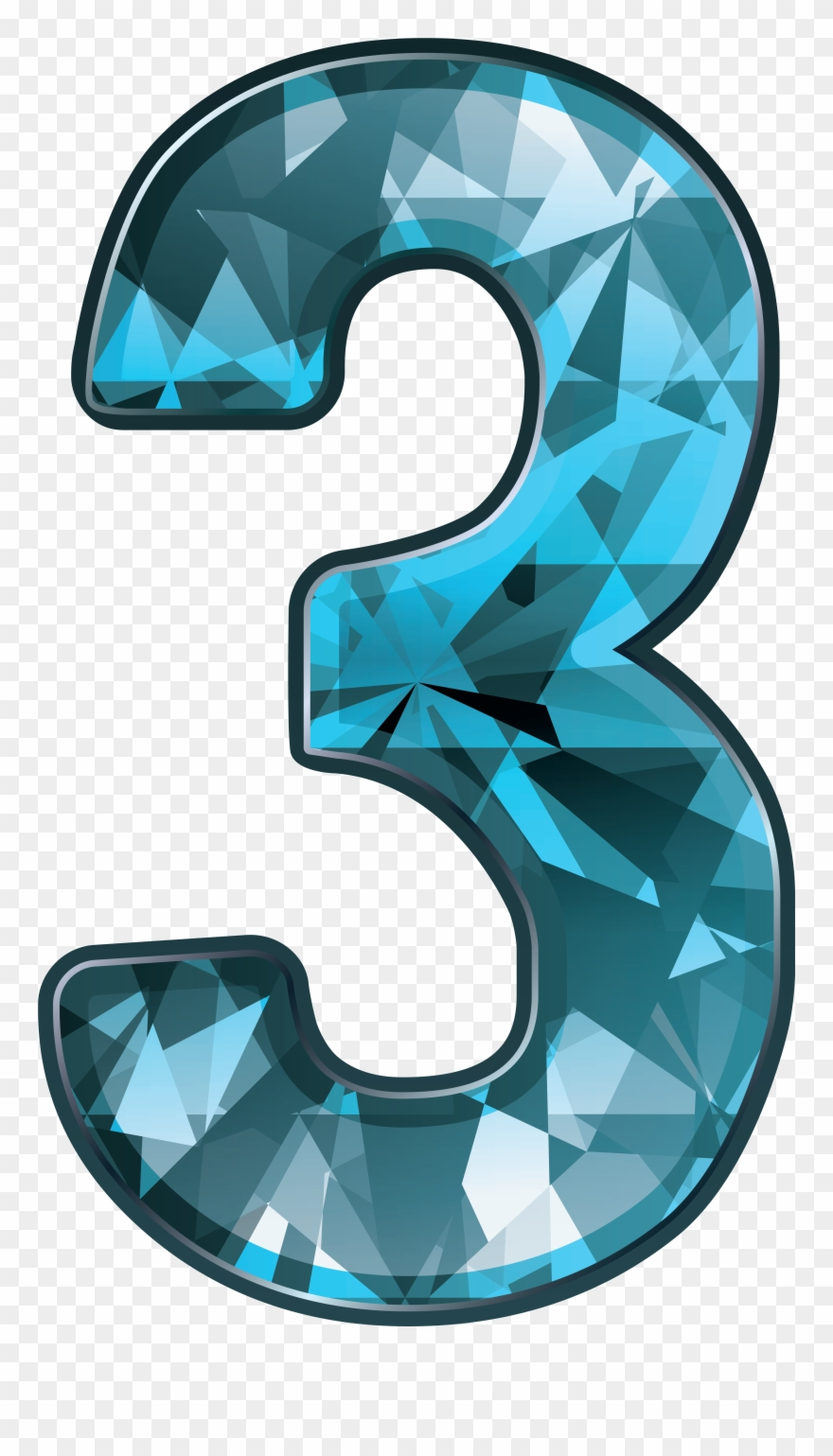 hight resolution of number three clipart png download