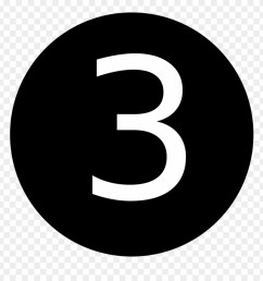 number 3 in black circle clipart [ 880 x 920 Pixel ]