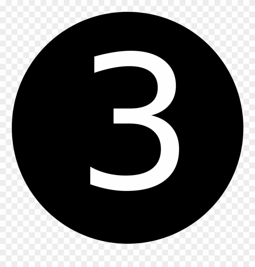 hight resolution of number 3 in black circle clipart
