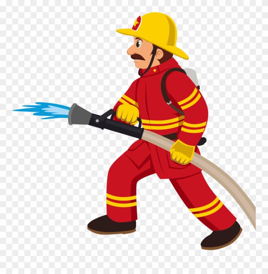 cartoon fireman fire fighter