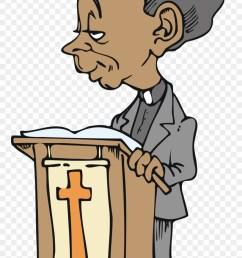 free african american cartoon character preacher vector clipart [ 880 x 1635 Pixel ]