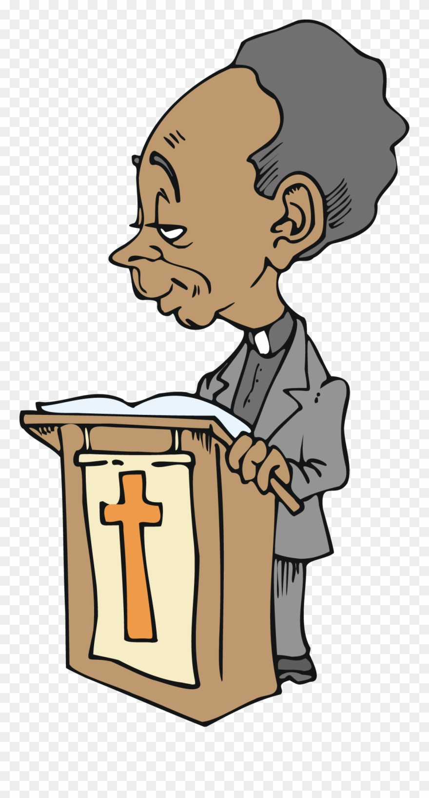 hight resolution of free african american cartoon character preacher vector clipart