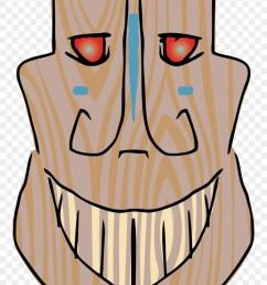 luau clipart tiki head tiki mask smile png download [ 880 x 1453 Pixel ]