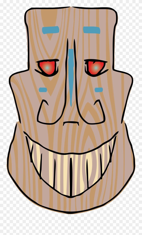 hight resolution of luau clipart tiki head tiki mask smile png download