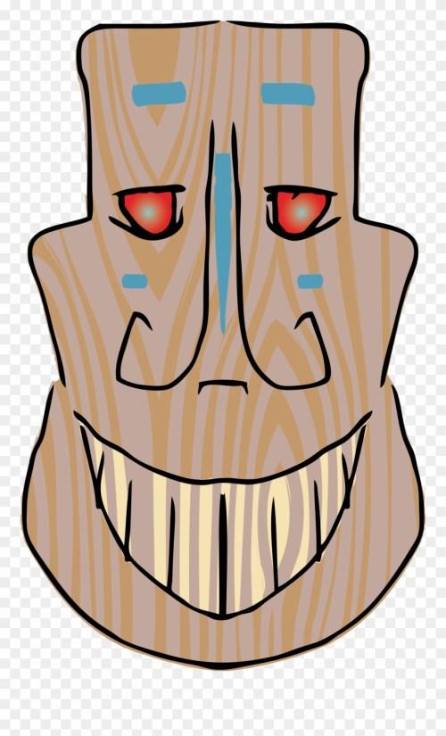 small resolution of luau clipart tiki head tiki mask smile png download
