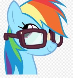 nerd transparent rainbow rainbow dash wearing glasses clipart [ 880 x 1098 Pixel ]