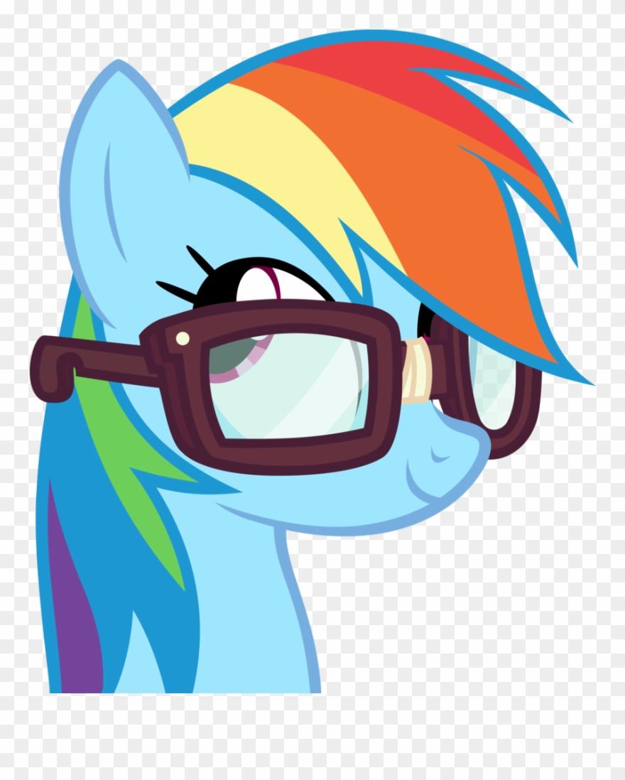 medium resolution of nerd transparent rainbow rainbow dash wearing glasses clipart