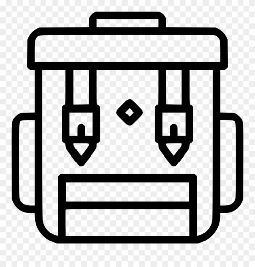 small resolution of camping backpack clipart