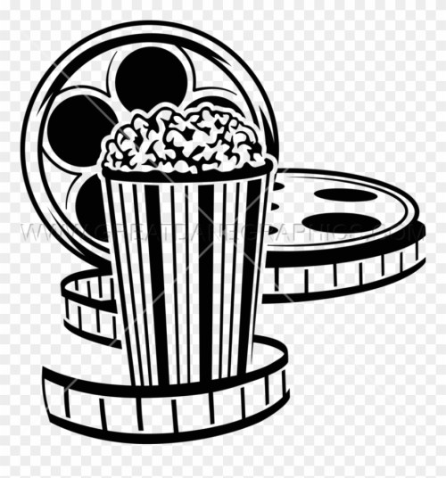 small resolution of movie reel and popcorn png black and white drive in movie clip art transparent png