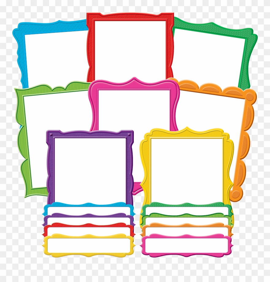 hight resolution of fancy frames bulletin board display set bulletin board clipart