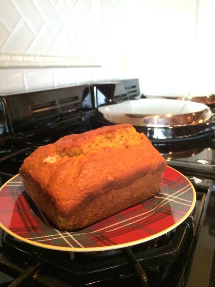 Pumpkin Spice Bread fresh from the AGA