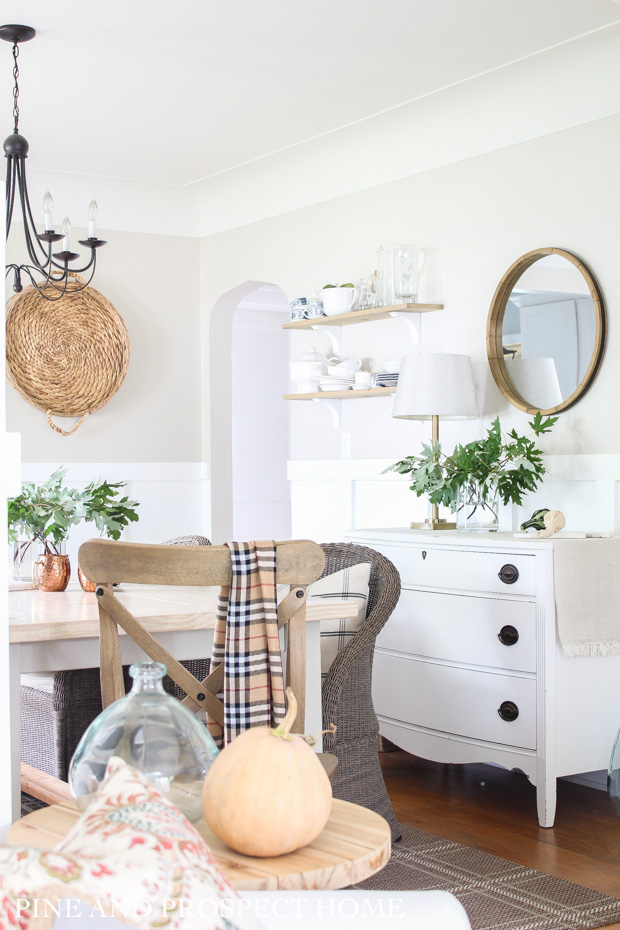 Simple Dining Room Fall Decor Pine And Prospect Home