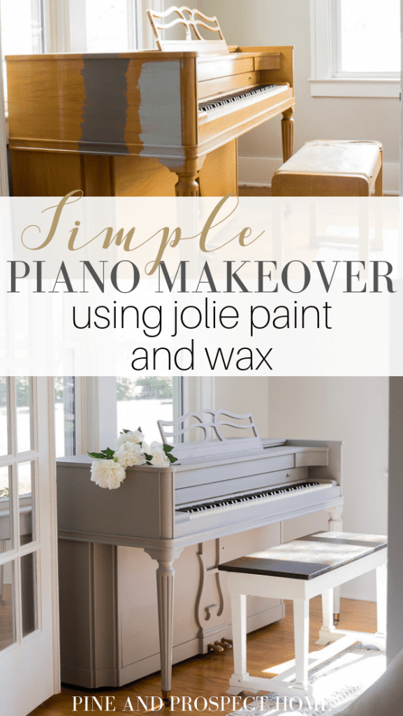 I can't believe how simple this piano makeover was! This was my first time using Jolie paint and I am honestly so impressed.
