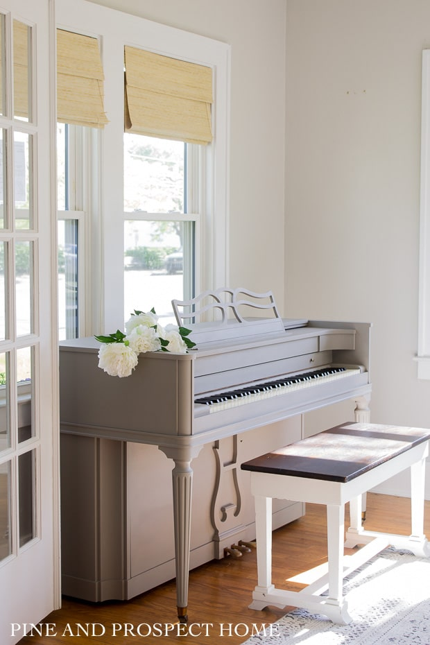 Come see how I transformed this piano using Jolie paint and wax! It was so simple and I am so happy with the results.