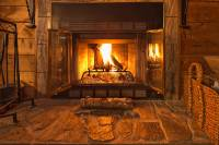 Log cabin heating: Fireplace or electric heating | Pineca.com