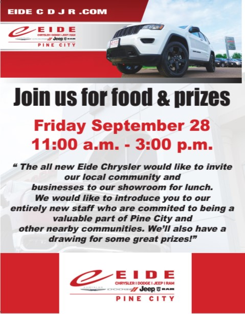 Eide Grand Re-Opening Flyer